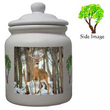 Deer Ceramic Color Cookie Jar