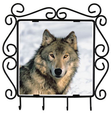 Wolf Metal Key Holder