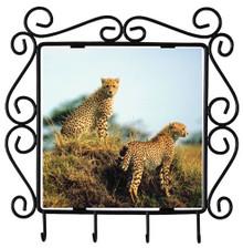 Cheetah Metal Key Holder