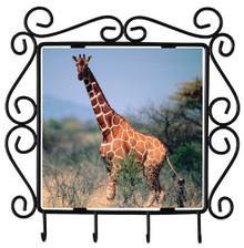 Giraffe Metal Key Holder