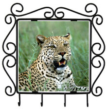 Leopard Metal Key Holder