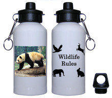 Panda Bear Aluminum Water Bottle
