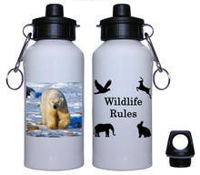 Polar Bear Aluminum Water Bottle