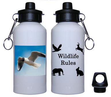 Black Headed Gull Aluminum Water Bottle