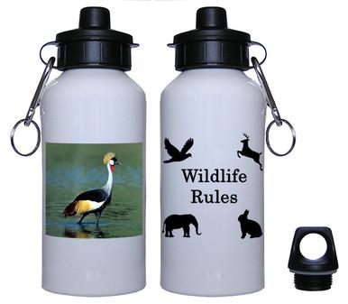 Crowned Crane Aluminum Water Bottle