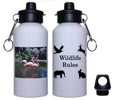 Flamingo Aluminum Water Bottle