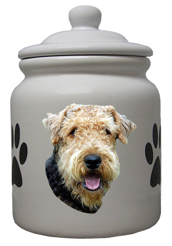 Airedale Ceramic Color Cookie Jar