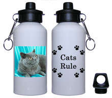 British Shorthair Cat Aluminum Water Bottle