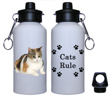Calico Cat Aluminum Water Bottle