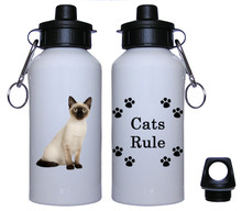 Siamese Cat Aluminum Water Bottle
