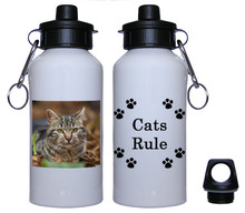 Tabby Cat Aluminum Water Bottle