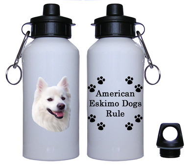 American Eskimo Dog Aluminum Water Bottle