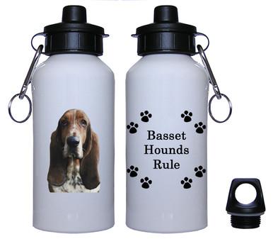 Basset Hound Aluminum Water Bottle