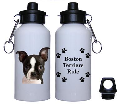 Boston Terrier Aluminum Water Bottle