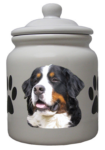 Bernese Mountain Dog Ceramic Color Cookie Jar