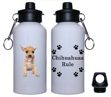 Chihuahua Aluminum Water Bottle