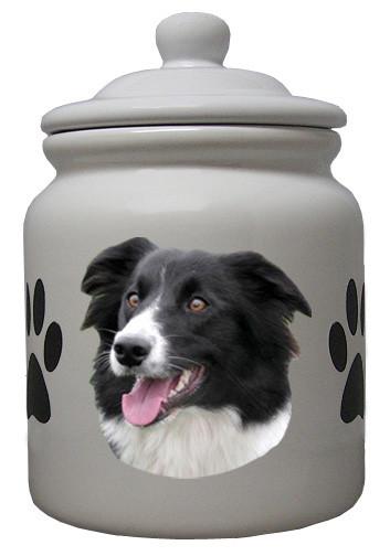 Border Collie Ceramic Color Cookie Jar