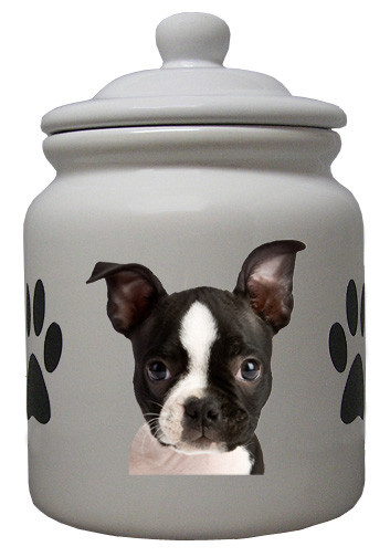 Boston Terrier Ceramic Color Cookie Jar