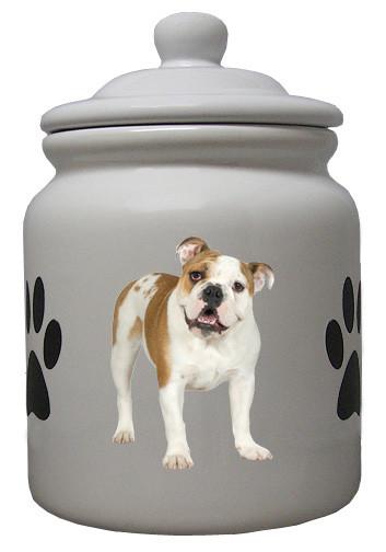 Bulldog Ceramic Color Cookie Jar