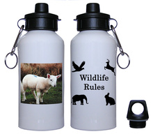 Lamb Aluminum Water Bottle