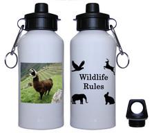 Llama Aluminum Water Bottle