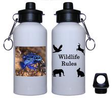 Blue Frog Aluminum Water Bottle