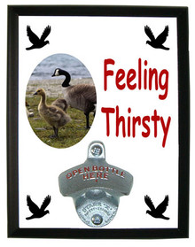 Geese Feeling Thirsty Bottle Opener Plaque