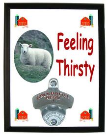 Sheep Feeling Thirsty Bottle Opener Plaque