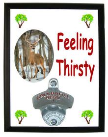Deer Feeling Thirsty Bottle Opener Plaque