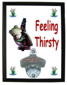Tree Frog Feeling Thirsty Bottle Opener Plaque
