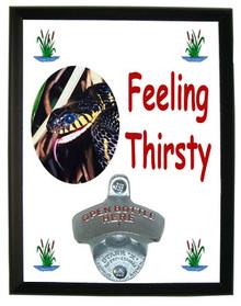 Mangrove Snake Feeling Thirsty Bottle Opener Plaque