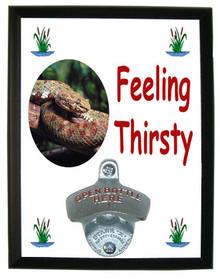 Viper Snake Feeling Thirsty Bottle Opener Plaque