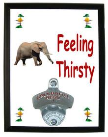 Elephant Feeling Thirsty Bottle Opener Plaque
