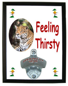 Jaguar Feeling Thirsty Bottle Opener Plaque