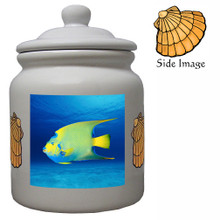 Angelfish Ceramic Color Cookie Jar