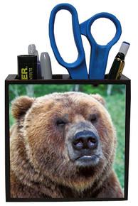 Bear Wood Pencil Holder