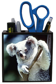 Koala Bear Wood Pencil Holder