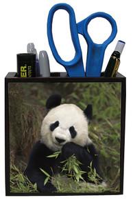 Panda Bear Wood Pencil Holder