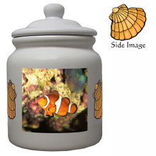 Clownfish Ceramic Color Cookie Jar