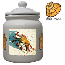 Crab Ceramic Color Cookie Jar
