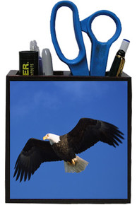 Eagle Wooden Pencil Holder