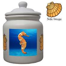 Seahorse Ceramic Color Cookie Jar