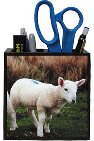 Lamb Wooden Pencil Holder