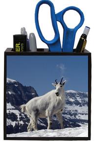 Mountain Goat Wooden Pencil Holder