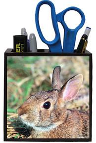 Rabbit Wooden Pencil Holder