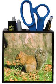 Squirrel Wooden Pencil Holder