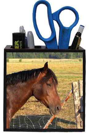 Horse Wooden Pencil Holder