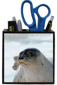 Seal Wooden Pencil Holder