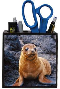 Sea Lion Wooden Pencil Holder