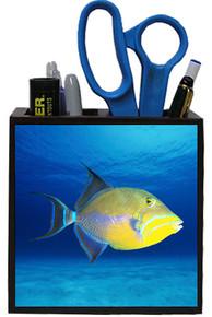 Triggerfish Wooden Pencil Holder